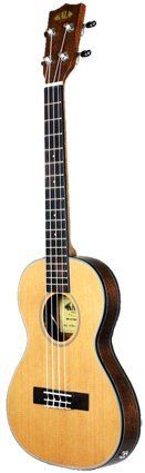 Kala Tenor Travel Ukulele With Preamp EQ KA-SSTU-TEP by Kala. $246.00. Travel Tenor with Equalizer 17 Tenor Scale (Distance from Nut to Saddle) 26-1/2 Overall body length 11-3/4 Body length 6-3/4 Upper Bout 9 Lower Bout 5-1/4 Waist 1-3/8 At Nut Thinline body 1 -1 Arched back body thickness. Solid Spruce top, Mahogany back and sides Binding is black,white black white with black rosette Mahogany neck, Rosewood fingerboard and Bridge 12 Silver nickel Frets Position m...
