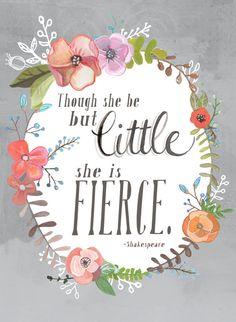 Shakespeare Quote Art Print