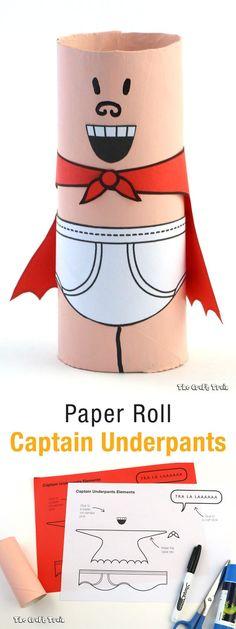 paper roll Captain Underpants