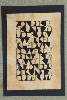 Opdracht VAK. Kalligrafie en ontwerp Marjolein Copius Peereboom