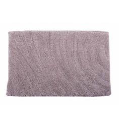 Alfombra baño ondas 40x60 gris