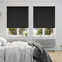 Sevilla Tranquility Black Blackout Roller Blind from Blinds 2go