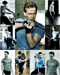 Tom training for Coriolanus... finally tonight Im gonna see it!