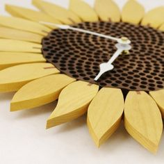 Sunflower Clock Yellowheart By Krtwood On Etsy, $65.00...I Might Try To