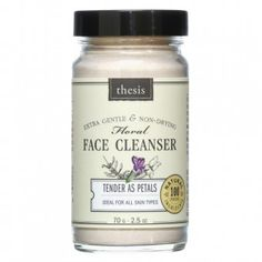 Thesis - organic and natural skin care - Facial Cleanser Tender as Petals Made in USA