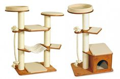 Profeline Cat Climbing Towers & Scratchers from Germany - the German Profeline Company has all sorts of COOL cat furniture!!! They sell window perches, catwalks, wall-mounted cat towers/scratching posts and TONS more!!!