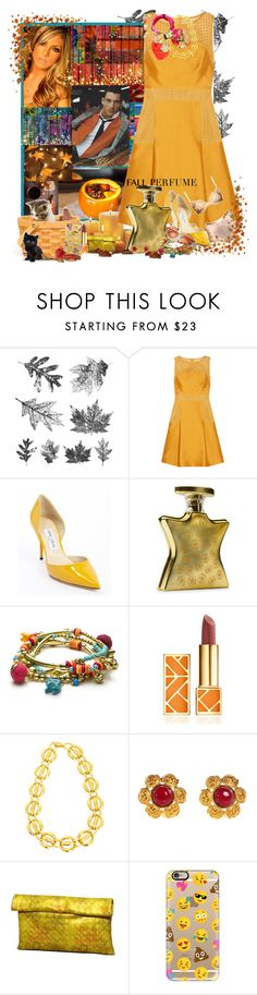 """""""Fall perfume"""" by angelihenkle ❤ liked on Polyvore featuring beauty, Tim Holtz, GE, Lela Rose, Jimmy Choo, Luna, Bond No. 9, Monsoon, Tory Burch and Chanel"""