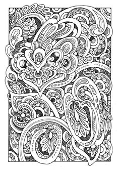 Patterns colouring page by Dandi Palmer