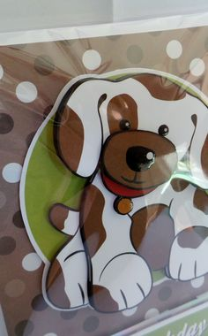 A5 3D dog with glossy eye's, nose and dog tag with hand made envelope 3d Dog, Glossy Eyes, Cute Characters, Fictional Characters, How To Make An Envelope, Dog Tags, Dogs, Handmade, Art