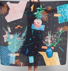 Foulard Bougie Bambou Noir Milleneufcentquatrevingtquatre en vente chez L'Exception