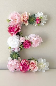 letter a floral decoration images best 25 flower letters ideas on letter 22687 Diy Dorm Decor, Dorm Decorations, Baby Shower Decorations, Nursery Monogram, Floral Nursery, Letter Monogram, Monogram Initials, Flower Letters, Flower Wall