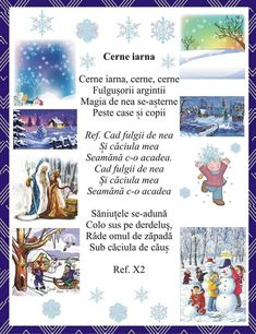 Christmas Projects, Kids Christmas, Anul Nou, Nursery Rhymes, Preschool Activities, Poems, Language, Winter, Pictures