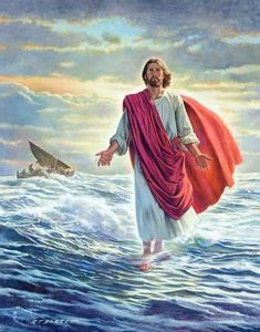 Jesus walks on water. Jesus walks on water. Jesus walks on water. Images Du Christ, Pictures Of Jesus Christ, Religious Pictures, Bible Pictures, Religious Art, Jesus Pics, Jesus Art, God Jesus, Sainte Rita