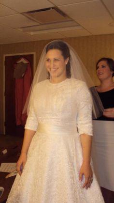 Modest Wedding Dress From WeddingDressFantasy And CoutureDeBride Sleeves Tzniut