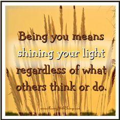 Shine light quote via FlowingWithChange.com