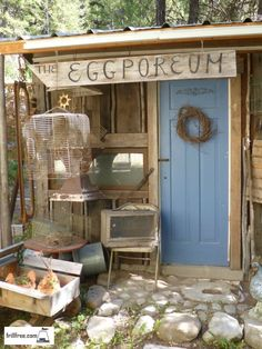 The Eggporeum - an earth sheltered, green roofed chicken house/bird museum/garden shed...  Alternative Building | Backyard Chickens