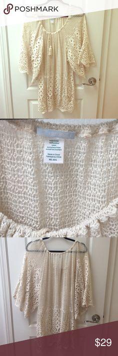 Anthropologie Cream knit dress Anthropologie Cream knit dress Dresses
