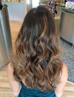 chocolate balayage highlights for long brown hair