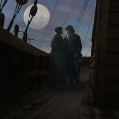 On the Artemis by Moonlight in Chapter 42 of Voyager. created by #OutlanderObsession