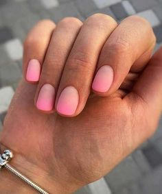 Matte Pink Gradient Nail Design for Short Nails Great ready to book your next manicure, because this Gradient Nails, Glitter Nails, Short Nail Designs, Nail Art Designs, Nails Design, Nail Design For Short Nails, Cute Nails, Pretty Nails, Pretty Short Nails