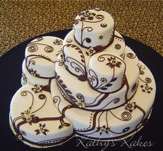Not crazy about the design on the cake but I love how they are all kind of piled together.