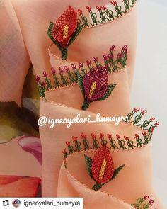 """1,506 Beğenme, 17 Yorum - Instagram'da Ceyizlik ürünler (@ceyizlikurunler01): """"Sipariş ve bilgi için 👉@igneoyalari_humeyra #Repost @igneoyalari_humeyra • • • hayırlı aksamlar…"""" Hand Embroidery, Embroidery Designs, Needle Lace, Bargello, Scarf Styles, Free Crochet, Free Pattern, Diy And Crafts, Crochet Patterns"""