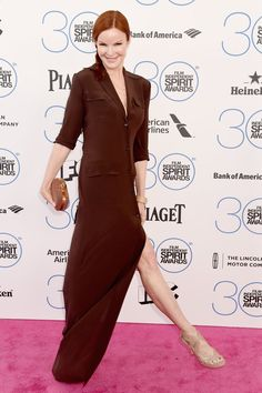 Pin for Later: Celebrity Duos Bring Electric Energy to the Spirit Awards Pink Carpet Marcia Cross Bree Van De Kamp, Warm Fall Outfits, Marcia Cross, Melrose Place, Pink Carpet, Spirit Awards, Warm Undertone, Warm Autumn, Celebs