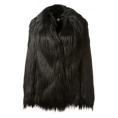 Stella Mccartney Black Faux Fur Coat (59,805 PHP) via Polyvore