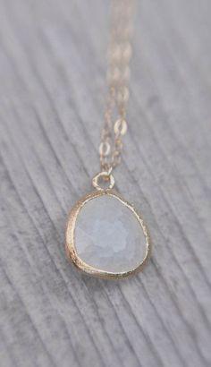 blanc. 18k vermeil gold moon face necklace