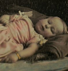 Sleeping Beauty Post-Mortem Photography | ... & Co!*Hand-colored Post-Mortem or Sleeping*1/6 Plate Daguerreotype