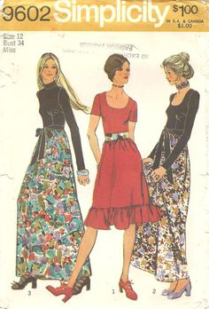 Electronics, Cars, Fashion, Collectibles, Coupons and Simplicity Sewing Patterns, Vintage Sewing Patterns, Sewing Ideas, Vintage Style Outfits, Vintage Dresses, Vintage Clothing, Retro Fashion, Vintage Fashion, Dress Patterns