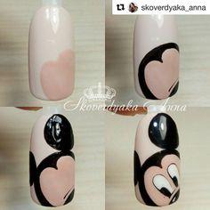 nail art tutorial - nail art designs & nail art & nail art designs for spring & nail art videos & nail art designs easy & nail art designs summer & nail art diy & nail art tutorial Cute Nail Art, Cute Acrylic Nails, Nail Art Diy, Diy Nails, Cute Nails, Mickey Mouse Nail Art, Mickey Mouse Nails, Disney Mickey, Disney Nails Art