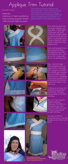 Cosplay tutorial: Applique trim by nyunyucosplay.deviantart.com on @DeviantArt