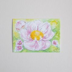 Original Watercolour ACEO  'Pink Peony' £6.00