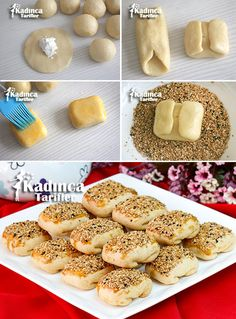 Bayatlamayan Sirkeli Bohça Poğaça Tarifi Pie Crust Designs, Tasty, Yummy Food, Turkish Recipes, Homemade Beauty Products, William Kate, Food And Drink, Bread, Snacks
