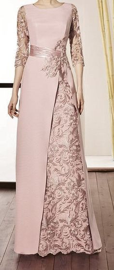 Black Friday Chic Floral Round Neckline Maxi A-line Dress - Floryday Source by gracelady_D dresses gowns Women's Dresses, Stylish Dresses, Pretty Dresses, Evening Dresses, Dresses Online, Women's A Line Dresses, Necklines For Dresses, Muslim Fashion, Hijab Fashion