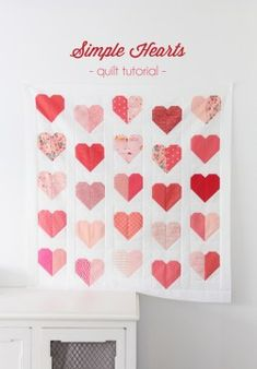 Heart Quilt Pattern, Mini Quilt Patterns, Pattern Blocks, Simple Quilt Pattern, Quilting Patterns, Quilting Ideas, Felt Patterns, Tatting Patterns, Applique Patterns
