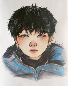 "4,015 curtidas, 40 comentários - franka  (@hitsujitann) no Instagram: ""bb yoongs  - - - #yoongi #suga #bts #bangtan #btsfanart #fanart #illust #koreanfanarts #kpopfanart…"""