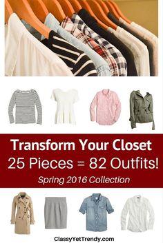 Transform Your Closet- Spring 2016 Capsule Wardrobe pin