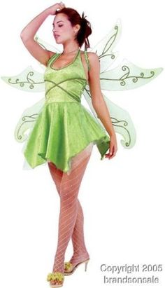 Amazon.com: Adult Sexy Tinkerbell Costume (Size:Small 2-4): Clothing