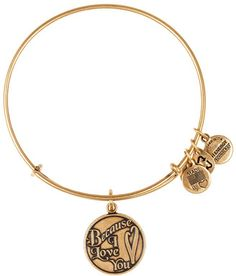 #Alex and Ani             #love                     #Alex #Because #Love #Charm #Bangle #Russian #Gold  Alex and Ani Because I Love You Charm Bangle - Russian Gold                                             http://www.seapai.com/product.aspx?PID=629009