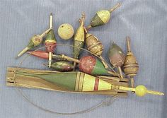 Collection of antique bobbers for FISHING!!