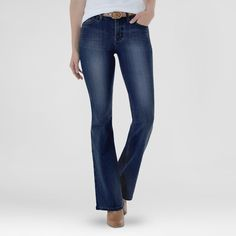 Women's Modern Fit High Rise Flare Dew 14 Long - Crafted by Lee, Mineral Blue