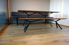 #ChristianKroepfl | #palatti series | #KT11 | table & banquette | tops oak…