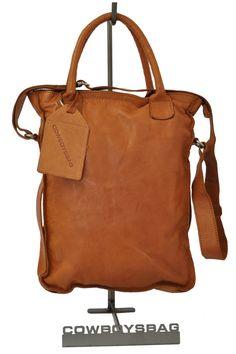 Cowboysbag Dover Handtasche Tote, geräumige Damenhandtasche aus Leder, Cognac, 32x41x5 cm (B x H x T)