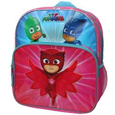 Disney Junior PJ Masks Owlette, Gekko and Catboy Save The Day 14 inch Backpack with Side Mesh Pockets: Medium Backpack, Size: x x Licensed Product Best Christmas Toys, Kids Christmas, Christmas Presents, Lunch Box Set, Day Backpacks, Backpack For Teens, Best Kids Toys, Pj Mask, Save The Day