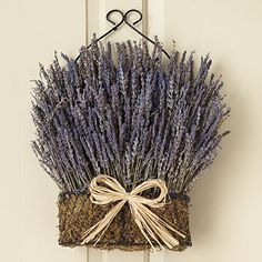 English Lavender Bow Basket