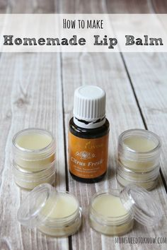 Homemade Lip Balm Recipe Made with Beeswax and Shea This homemade lip balm recipe is a great natural alternative to anything you can buy in the store! Made with coconut oil, shea butter and beeswax, it's so easy! Homemade Lip Balm, Diy Lip Balm, Homemade Skin Care, Homemade Beauty Products, Lush Products, Homemade Butter, Homemade Soaps, Natural Products, Body Products