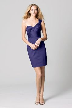 Gorgeous purple bridesmaid dresses on Weddingtonway.com