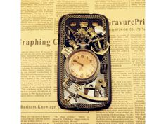 3D Vintage Metal Style + Pocket Watch Samsung Galaxy S3 Case